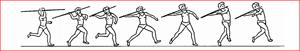 Technique de lancer de javelot