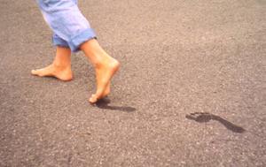 Marcher à pied